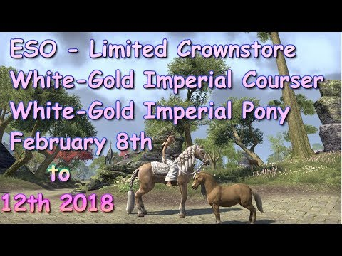 ESO White Gold Imperial Courser and Pony Preview