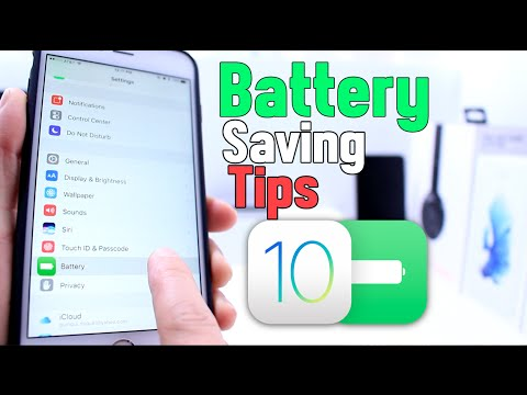 Battery Saving Tips for iOS 10 iPhone, iPad