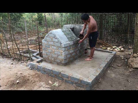 Primitive Technology:Tank-Filter and Save Water!Primitive life-wilderness