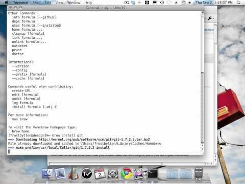 Installing Git on Mac OS X using Homebrew