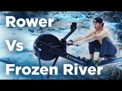 Rower Vs. Frozen River