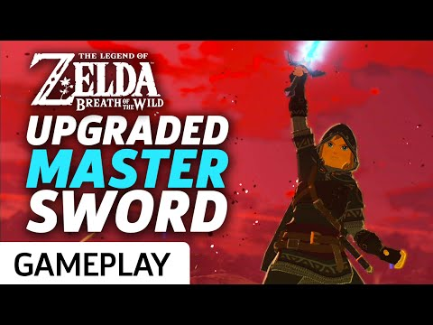 Zelda Breath Of The Wild - Upgraded Master Sword At Max Power Gameplay
