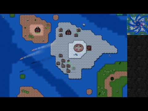 A quick multiplayer game of Rusted Warfare on PC