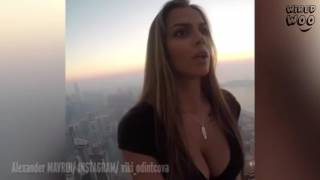 Stunning Russian Model Victoria Odintsov Performing Death-Defying Photoshoot