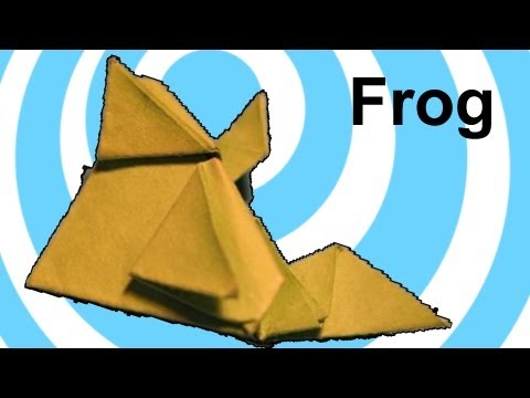 Origami jumping frog 🐸 (easy origami instructions)