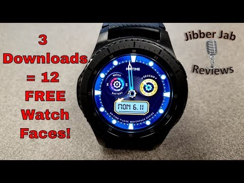 Samsung Gear S3/Gear Sport - 3 FREE Downloads in Galaxy app Store = 12 Watch Faces! Total!