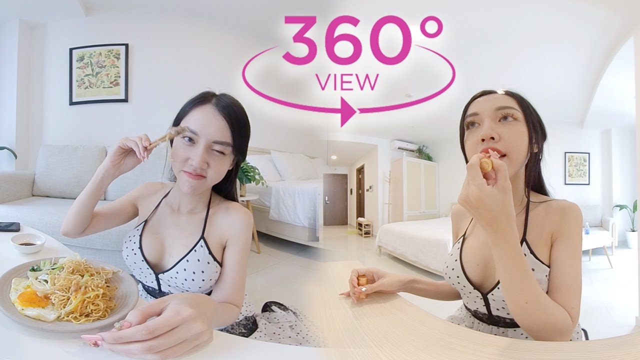 VR 360° Cute maid washing dishes 👅CAN LOOK, BUT CAN'T TOUCH | Pet And Bae