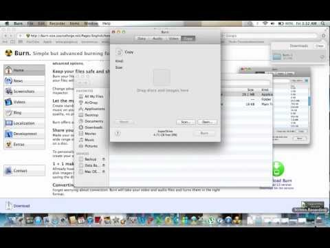 How to burn ISO and DMG Images on a Macintosh