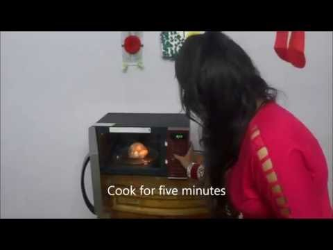 How to boil potato in microwave in hindi