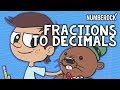 Converting Fractions to Decimals Song by NUMBEROCK