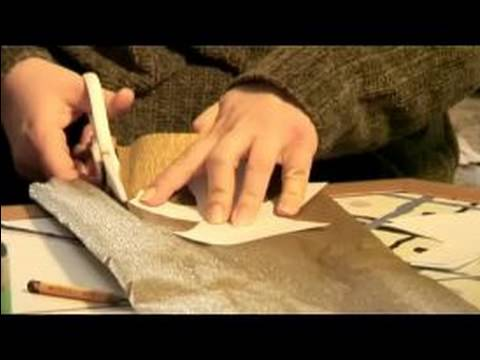 How to Make an Angel Christmas Ornament : Cutting Out Pattern for Christmas Tree Angel
