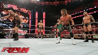 Orton, Ryback, Cesaro & Ziggler vs. Sheamus, Big Show, Owens & Rusev: Raw, Aug. 24 , 2015
