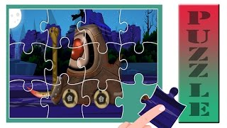 Scary forklift   puzzle for kids   jigsaw puzzle games   vehicle videos for children