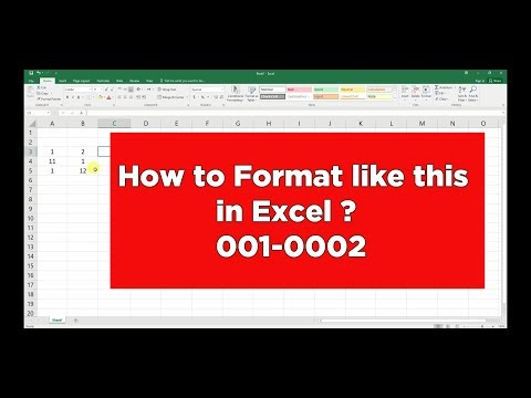 Custom Formatting in Excel | Add leading Zero and Hyphen | Microsoft Excel Tutorial