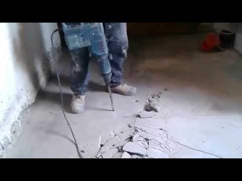 How to Use a Hammerdrill through Concrete Floor