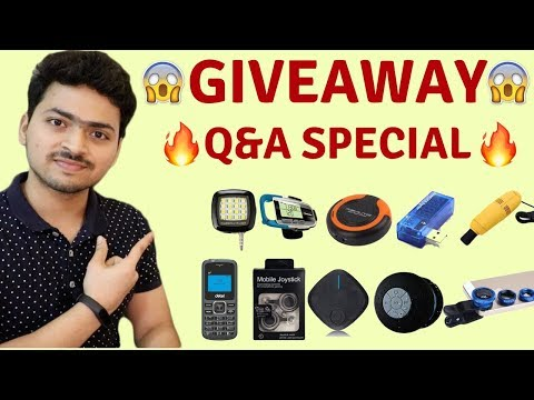 Giveaway | 10,000 Subscribers Special Giveaway 2018 | Tech Unboxing 🔥