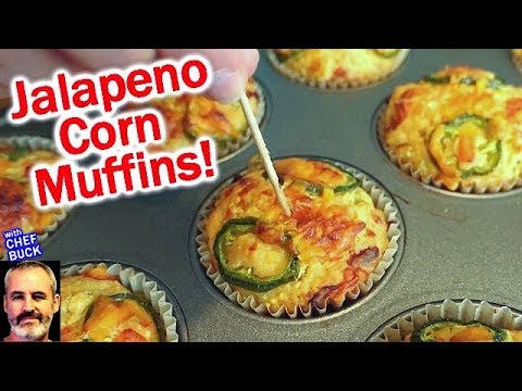 Perfect Corn Muffins with Cheese and Jalapeno