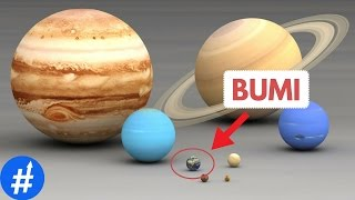 Perbandingan Ukuran Bumi, Planet, Matahari dan Bintang Di Alam Semesta