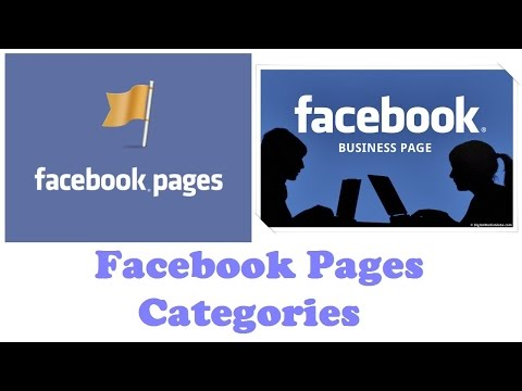 Facebook Pages Categories