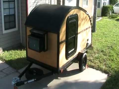 HOMEMADE TEARDROP TRAILER ALL MADE BY HAND ON A HARBOR FREIGHT FRAME