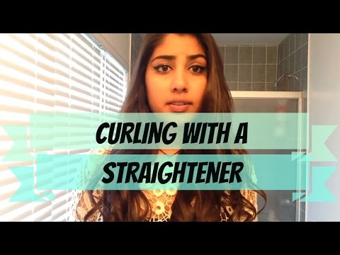 How To: Curling With A Straightener