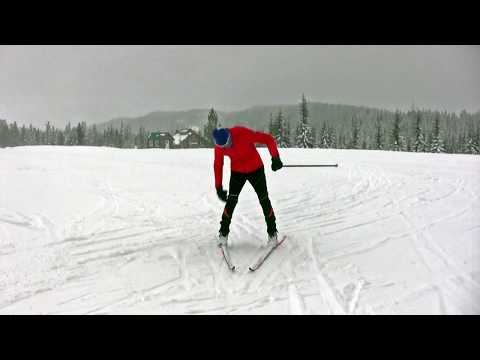 Learn to angulate to improve your downhill ski technique on x-c skis