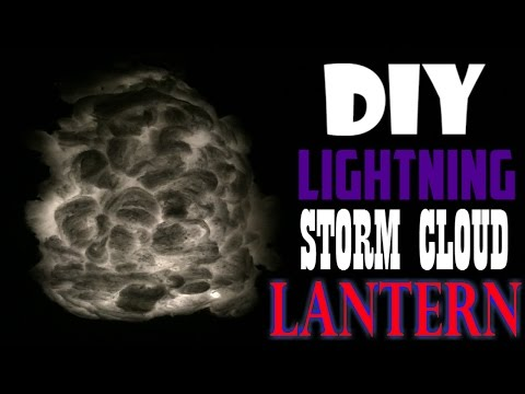Lightning Storm Cloud Lantern - 1 minute tutorials