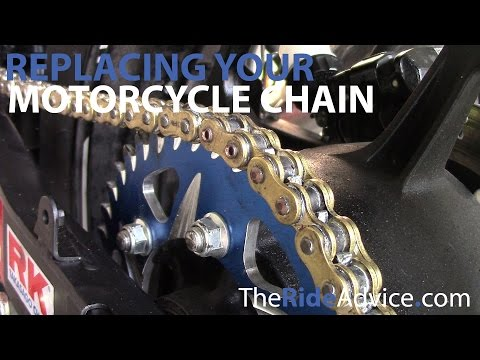 How to Replace Your Motorcycle Chain - Break Motorcycle Chain and Rivet New Motorcycle Chain