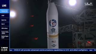 Launch of the ULA Launch Delta-IV carrying the WGS-9 comsat from Cape Canaveral