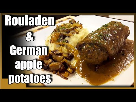 how to make beef rouladen | beef roulade and german apple potatoes.