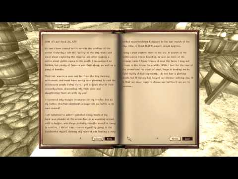 Let's Play Oblivion Again - 09 - Zog's Journal