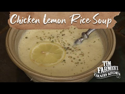 Traditional Greek Chicken Lemon Rice Soup Recipe