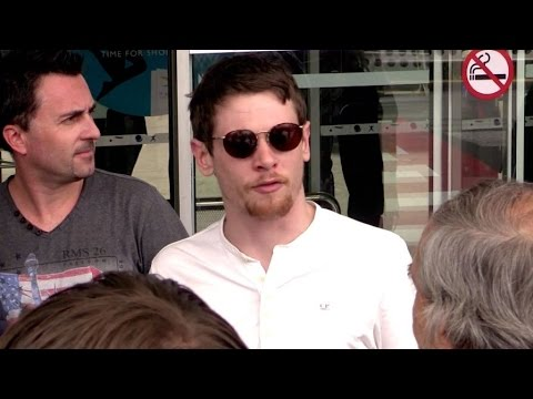 EXCLUSIVE: Actor Jack O connell super nice at Nice airport for the 2015 Cannes  film festival