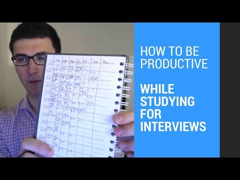 How to be productive while studying for interviews