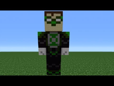 Minecraft 360: How To Make A Green Lantern Statue