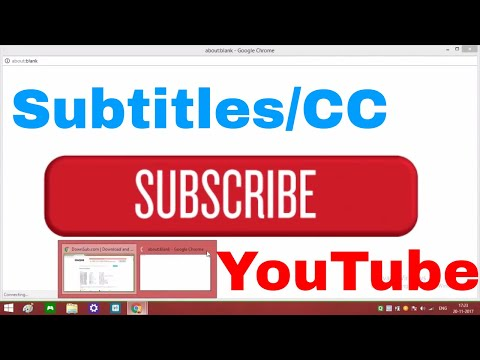 How To Download Subtitles/CC From YouTube In Any Language in (2017)
