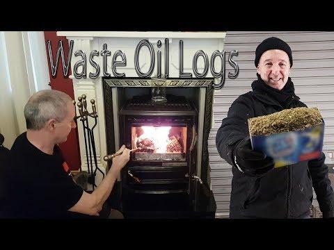 Homemade Sawdust and Veggie Oil Logs --SIMPLE FREE HEAT --