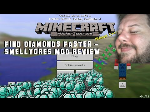 Find Diamonds Faster - SmellyOres Mod Review - Minecraft Pocket Edition (0.15.6)