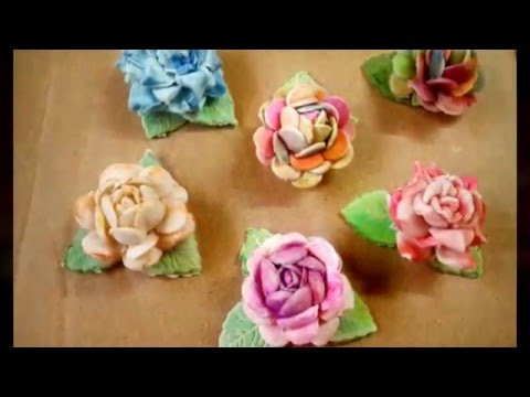 Cold porcelain clay flat back rose 2 ways diy tutorial