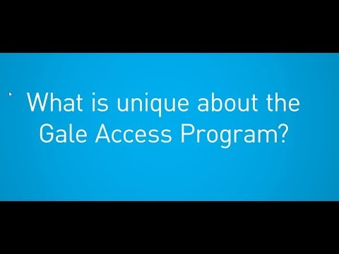 Gale Access Program: Why it's Unique
