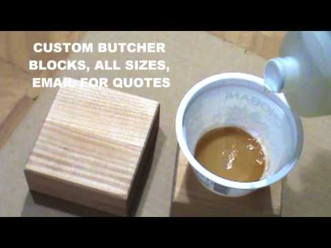 staining butcher block countertops