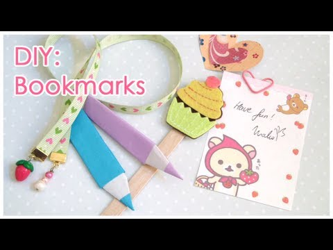 DIY: 6 Different Bookmarks - Back to School