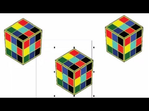 HOW TO CREATE RUBIK'S CUBE IN COREL DRAW 2017 BY ONLINE CLASSES