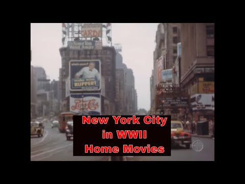 NEW YORK CITY AND TIMES SQUARE IN COLOR WWII HOME MOVIE 70782