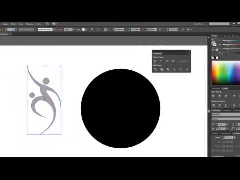 How to cut a shape out of another shape- Using the pathfinder tab-Illlustrator CS6