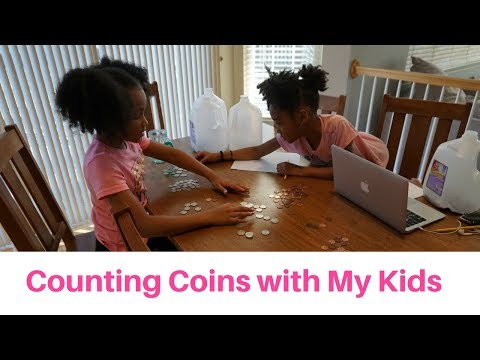 Counting Coins with the Kids   How My Kids Save Money   FrugalChicLife