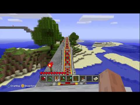 Minecraft: Xbox 360 Edition | My Powered Rail Rollercoaster