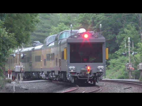 Norfolk Southern & CSX HD 60fps: Lehigh Line Action @ Prospect Avenue w/ UP 1943 (5/31/18)