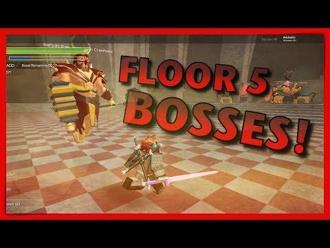 FLOOR 5* Guide To Main & Mini Boss! - Roblox: Swordburst 2