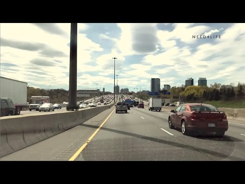 Driving North America's busiest Highway 401 From Whitby to Toronto